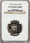 Modern Bullion Coins: , 1997-W P$50 Half-Ounce Platinum Eagle PR70 Ultra Cameo NGC. NGCCensus: (392). PCGS Population (102). Mintage: 14,637. Numi...