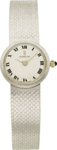 Estate Jewelry:Watches, Corum Lady's White Gold Integral Bracelet Wristwatch. ...