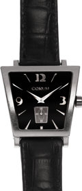 Estate Jewelry:Watches, Corum Gentleman's Stainless Steel Trapeze Crocodile Strap Wristwatch. ...