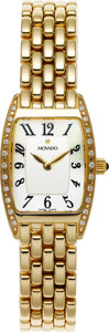 Estate Jewelry:Watches, Movado Lady's Diamond, Gold Wristwatch . ...