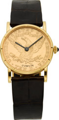 Estate Jewelry:Watches, Corum Unisex US $10 Gold Coin, Leather Strap Wristwatch. ...