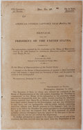 Books:Americana & American History, [War with Mexico]. US Congress. Document No. 49. AmericanCitizens Captured Near Santa Fe. US Congress, 1842. Fi...