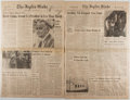 Books:Periodicals, [Newspaper]. Lyndon B. Johnson [subject]. The Joplin Globe.Johnson's Passing Highlighting the January 23, 1973 Is...