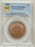 1804 1C Restrike MS64 Brown PCGS Secure. Breen-1761....(PCGS# 45344)