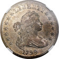 Early Dollars, 1799 $1 7x6 Stars AU58 NGC. B-6, BB-162, R.4. ...