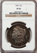 Proof Morgan Dollars, 1894 $1 PR55 NGC....