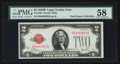 Small Size:Legal Tender Notes, Fr. 1503 $2 1928B Legal Tender Note. PMG Choice About Unc 58.. ...