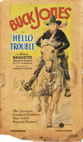 """Movie Posters:Western, Hello Trouble (Columbia, 1932). Original Poster Artwork (16.5"""" X28.25"""").. ..."""
