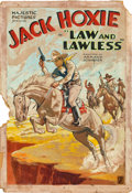 "Movie Posters:Western, Law and Lawless (Majestic, 1932). Original Poster Artwork (27.5"" X19"").. ..."