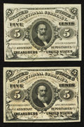 Fractional Currency:Third Issue, Fr. 1236 5¢ Third Issue About New. Fr. 1237 5¢ Third Issue Choice New.. ... (Total: 2 notes)