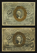 Fractional Currency:Second Issue, Fr. 1247 10¢ Second Issue Choice New;. Fr. 1249 10¢ Second Issue Extremely Fine.. ... (Total: 2 notes)