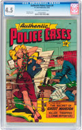 Golden Age (1938-1955):Crime, Authentic Police Cases #8 (St. John, 1950) CGC VG+ 4.5 Off-white to white pages....