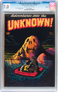 Adventures Into The Unknown #2 Northford pedigree (ACG, 1948) CGC FN/VF 7.0 Cream to off-white pages
