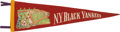 Baseball Collectibles:Others, Circa 1930's New York Black Yankees Negro League Pennant....