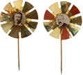Political:Pinback Buttons (1896-present), Theodore Roosevelt and Alton B. Parker: Pair of Spinners.... (Total: 2 Items)