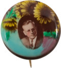 Political:Pinback Buttons (1896-present), Alf Landon: Beautiful Tinted Button....