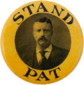 Political:Pinback Buttons (1896-present), Theodore Roosevelt: Rare Stand Pat Button....