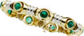 Estate Jewelry:Bracelets, Emerald, Gold Bracelet. ...