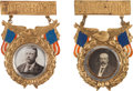Political:Miscellaneous Political, Theodore Roosevelt and Alton B. Parker: Pair of Showy Badges....(Total: 2 Items)