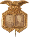 Political:Ferrotypes / Photo Badges (pre-1896), Harrison & Reid: Choice Cardboard Jugate....