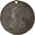 Political:Ferrotypes / Photo Badges (pre-1896), Martin Van Buren: DeWitt Number One....