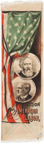 Political:Ribbons & Badges, Harrison & Morton: Colorful Jugate Satin Ribbon....