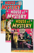 Golden Age (1938-1955):Horror, House of Mystery Group (DC, 1954-55) Condition: Average VG+....(Total: 5 Comic Books)