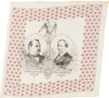 Political:Textile Display (pre-1896), Cleveland & Hendricks: Highly Decorative Jugate Bandanna....