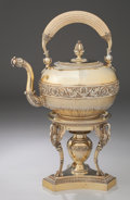 Silver Holloware, French:Holloware, A MARC-AUGUSTIN LEBRUN FRENCH SILVER GILT HOT WATER KETTLE ON STAND WITH BURNER . Marc-Augustin Lebrun, Paris, France, circa... (Total: 3 Items)