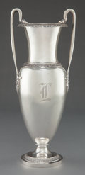 Silver Holloware, American:Vases, A TIFFANY & CO. SILVER AND SILVER GILT VASE . Tiffany &Co., New York, New York, circa 1890. Marks: TIFFANY & CO,10573 MA...