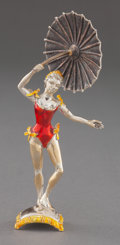 Silver Smalls:Other , A TIFFANY & CO. SILVER AND ENAMEL CIRCUS PERFORMER WITHUMBRELLA DESIGNED BY GENE MOORE . Tiffany & Co., New York, NewYor...