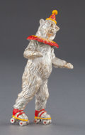 Silver Smalls:Other , A TIFFANY & CO. SILVER AND ENAMEL CIRCUS BEAR ON ROLLER SKATESDESIGNED BY GENE MOORE . Tiffany & Co., New York, New York,...