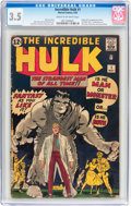 Silver Age (1956-1969):Superhero, The Incredible Hulk #1 (Marvel, 1962) CGC VG- 3.5 Cream tooff-white pages....