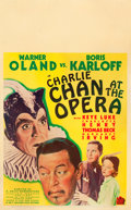"Movie Posters:Mystery, Charlie Chan at the Opera (20th Century Fox, 1936). Window Card(14"" X 22"").. ..."