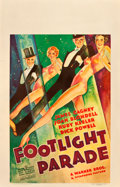 """Movie Posters:Musical, Footlight Parade (Warner Brothers, 1933). Window Card (14"""" X 22"""").. ..."""