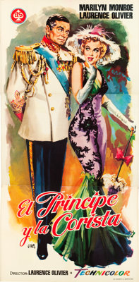 "The Prince and the Showgirl (A.S. Films, 1958). Spanish Three Sheet (39"" X 82.5"")"