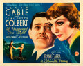 "Movie Posters:Academy Award Winners, It Happened One Night (Columbia, 1934). Half Sheet (22"" X 28"")Style A.. ..."