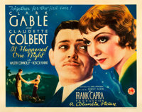 """It Happened One Night (Columbia, 1934). Half Sheet (22"""" X 28"""") Style A"""