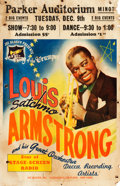 "Movie Posters:Musical, Louis Armstrong (Circa, 1941). Theatrical Window Card (14"" X 22"")....."