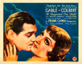 "Movie Posters:Academy Award Winners, It Happened One Night (Columbia, 1934). Half Sheet (22"" X 28"") Style B.. ..."