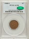 Indian Cents: , 1908-S 1C AU50 PCGS. CAC. PCGS Population (99/510). NGC Census:(88/1070). Mintage: 1,115,000. Numismedia Wsl. Price for pr...