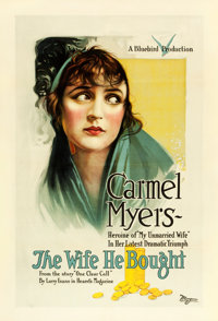 """The Wife He Bought (Universal Film Manufacturing, 1918). One Sheet (28.5"""" X 42"""")"""