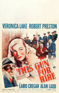 "Movie Posters:Film Noir, This Gun for Hire (Paramount, 1942). Window Card (14"" X 22"").. ..."