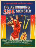 "Movie Posters:Science Fiction, The Astounding She Monster (American International, 1958). MPGraded Poster (30"" X 40"").. ..."