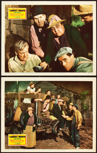 "The Grapes of Wrath (20th Century Fox, 1940). Lobby Cards (2) (11"" X 14""). ... (Total: 2 Items)"