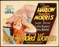 "Movie Posters:Comedy, Red Headed Woman (MGM, 1932). Title Lobby Card (11"" X 14"").. ..."