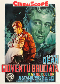 """Rebel without a Cause (Warner Brothers, R-1960). Italian 4 - Foglio (55"""" X 77"""")"""