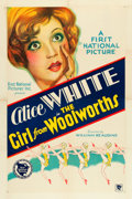 "Movie Posters:Comedy, The Girl from Woolworth's (First National, 1929). One Sheet (27"" X41"").. ..."