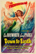 "Movie Posters:Musical, Down to Earth (Columbia, 1947). One Sheet (27"" X 41"") Style A.From the collection of Wade Williams.. ..."