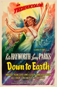 """Down to Earth (Columbia, 1947). One Sheet (27"""" X 41"""") Style A. From the collection of Wade Williams"""